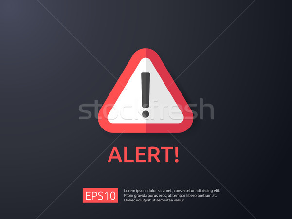 attention warning alert sign with exclamation mark symbol. shiel Stock photo © taufik_al_amin