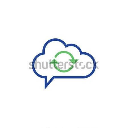 cloud computing concept sync Icon vector illustration Stock photo © taufik_al_amin