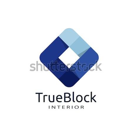 Logo aziendale abstract piazza cappio simbolo Foto d'archivio © taufik_al_amin