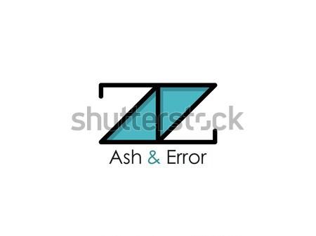 abstract initial letter A, E, AE or Z logo concept design template vector illustration Stock photo © taufik_al_amin