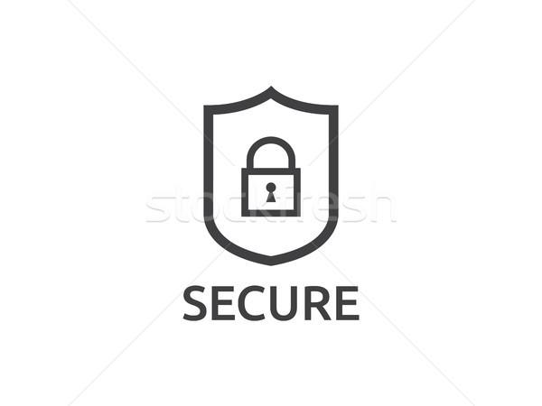shield line icon, Internet VPN Security Concept vector illustrat Stock photo © taufik_al_amin