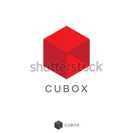 Cube Box Logo icon design Stock photo © taufik_al_amin
