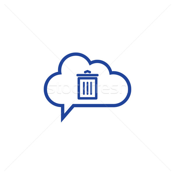 cloud trash Icon computing concept vector illustration Stock photo © taufik_al_amin