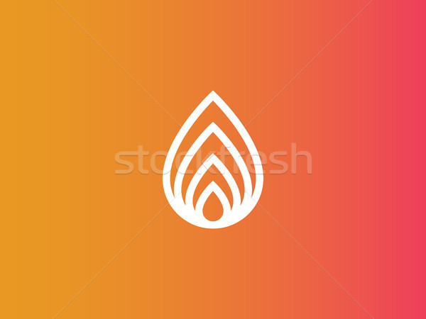 abstract fire logo or nature leaf icon Stock photo © taufik_al_amin