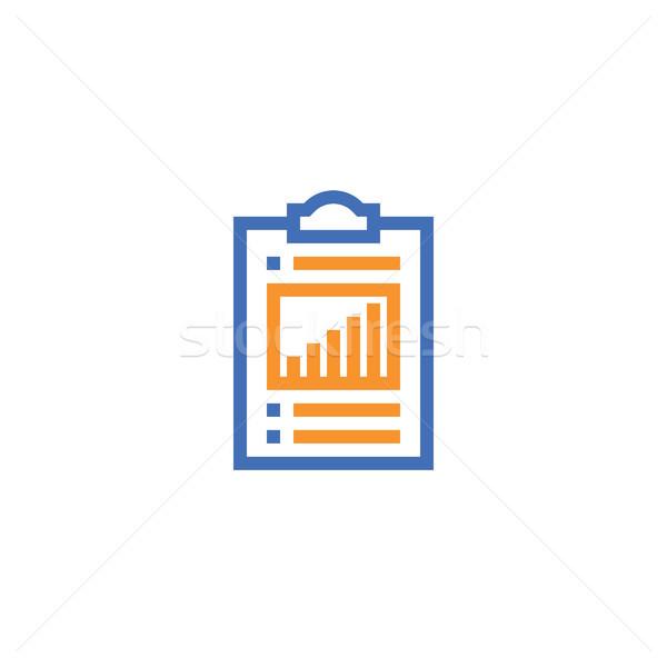 Verificar lista ícone isolado documento Foto stock © taufik_al_amin
