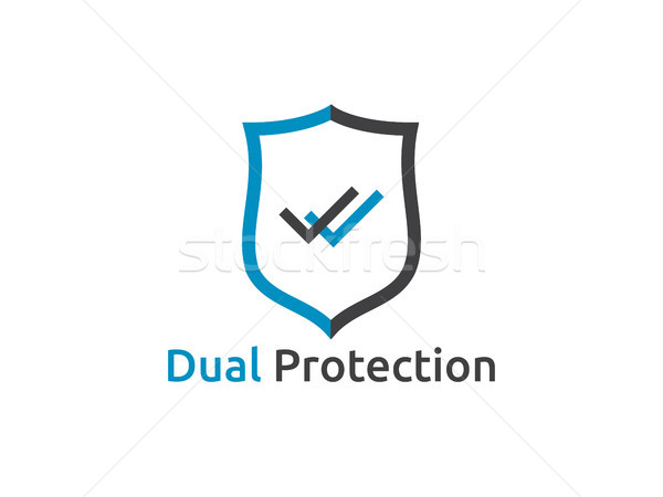 check shield icon symbol  Secure Protection Concept vector