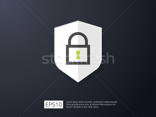 shield line icon, Internet VPN Security banner Concept vector il Stock photo © taufik_al_amin