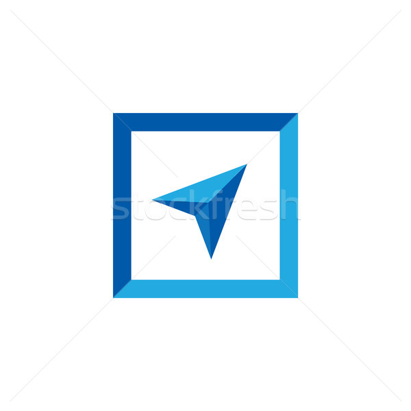 arrow cursor logo vector illustration Stock photo © taufik_al_amin