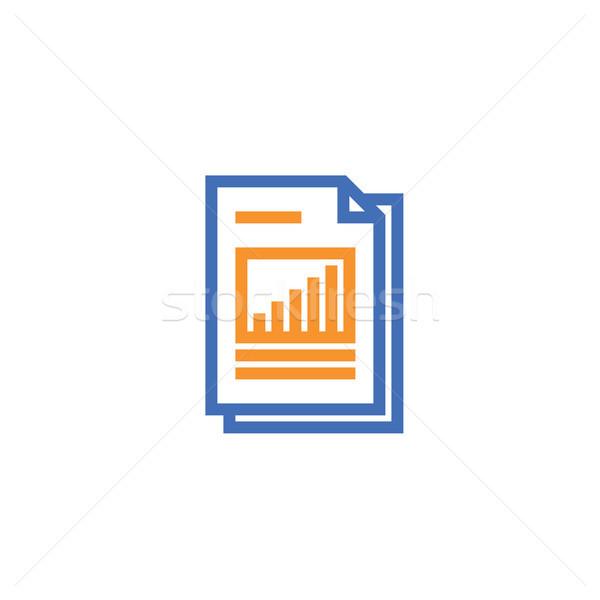 Táblázat irat papír skicc ikon izolált Stock fotó © taufik_al_amin