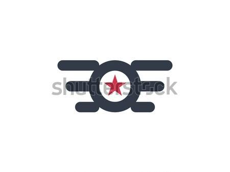 Zdjęcia stock: Kółko · star · skrzydła · logo · streszczenie · projektu