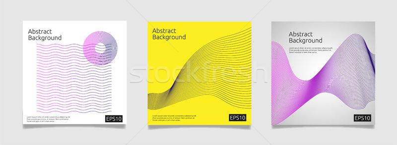 Abstract coprire modello line arte design Foto d'archivio © taufik_al_amin