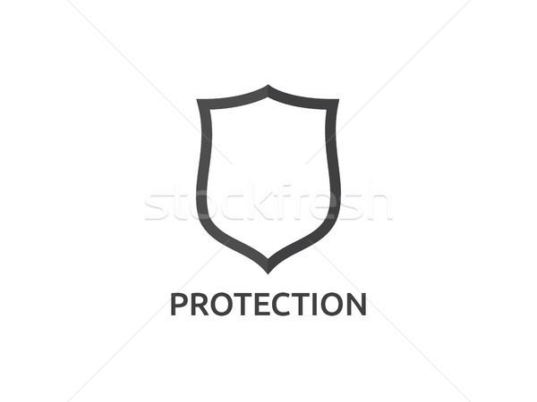 Isolato scudo vettore icona logo simbolo Foto d'archivio © taufik_al_amin