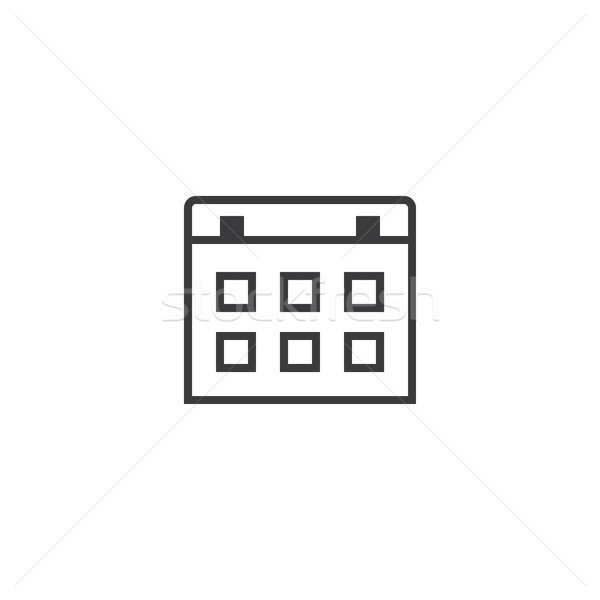 calendar Icon. line style vector illustration Stock photo © taufik_al_amin