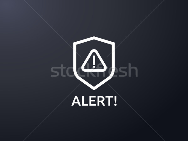 Figyelem figyelmeztetés éber felirat felkiáltójel szimbólum Stock fotó © taufik_al_amin