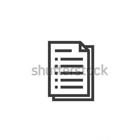 Documento carta contorno icona isolato Foto d'archivio © taufik_al_amin