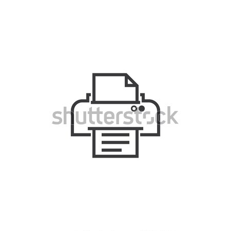 printer Icon. line style vector illustration Stock photo © taufik_al_amin