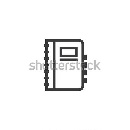 Foto stock: Caderno · ícone · isolado · documento · papel