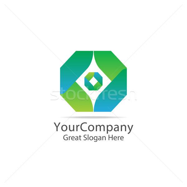 Iş logo soyut kutu küp simge Stok fotoğraf © taufik_al_amin