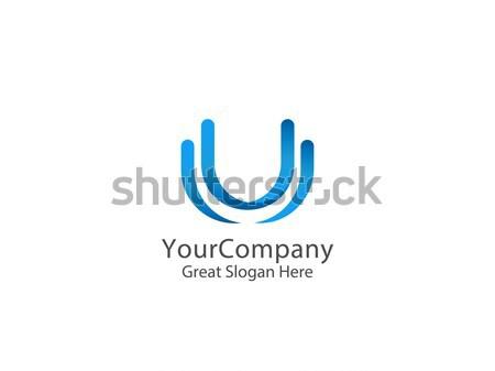 Brief logo icon abstract alfabet teken Stockfoto © taufik_al_amin