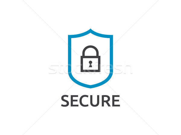Schild lijn icon internet veiligheid vector Stockfoto © taufik_al_amin