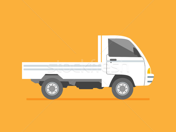 Isolated side view small delivery truck. Cargo delivery. Solid a Stock photo © taufik_al_amin