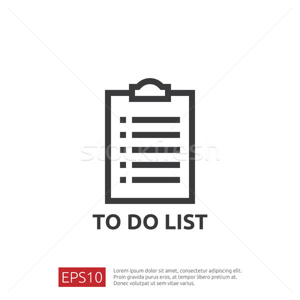 To do list or planning icon in flat style. vector illustration concept of checklist paper sheet remi Stock photo © taufik_al_amin