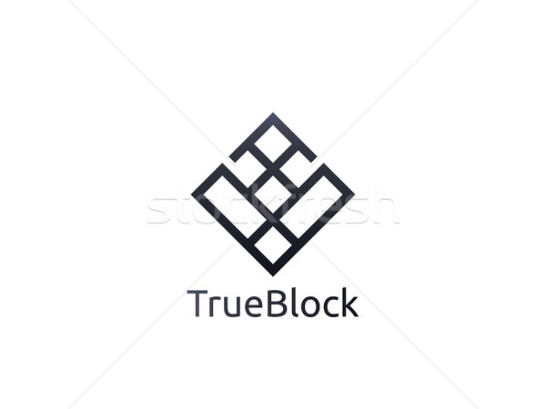 Stock photo: abstract alphabet letter V logo icon. floor tile wall block sign