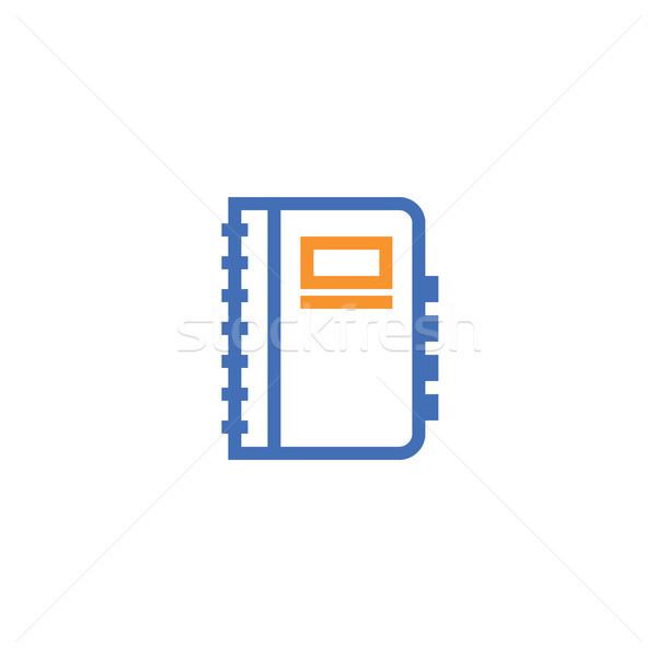 Notebook contorno icona isolato documento carta Foto d'archivio © taufik_al_amin