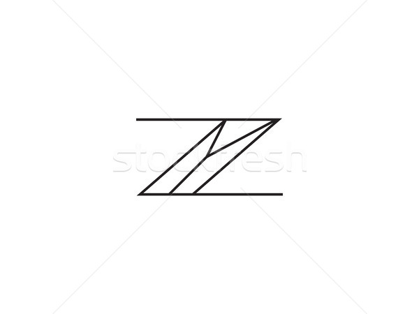initial letter Z Y logo template. Alphabet Symbol for Corporate  Stock photo © taufik_al_amin