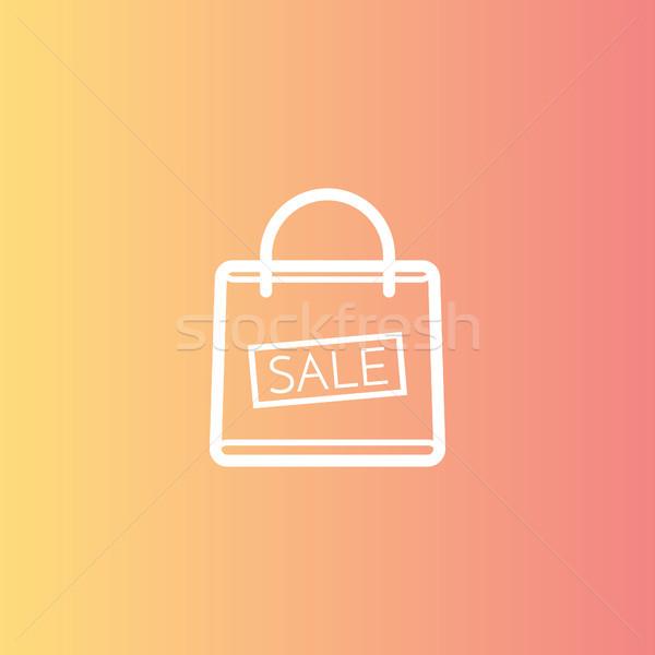 Shopping bag vendita sconto simbolo poster Foto d'archivio © taufik_al_amin