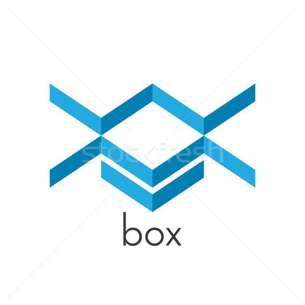 isometric blue box with letter initial x w m logo. logo template Stock photo © taufik_al_amin