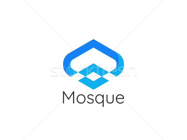 modern style mosque architecture building Logo icon design conce Stock photo © taufik_al_amin