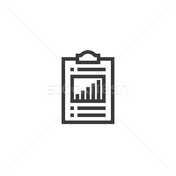 check list outline icon. isolated document paper icon in thin line style for graphic and web design. Stock photo © taufik_al_amin