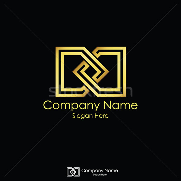 infinity initial letter DD. letter D logo design. linked square  Stock photo © taufik_al_amin