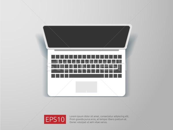 Topo ver tela laptop computador escritório Foto stock © taufik_al_amin