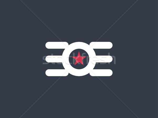 Cerchio star ala logo abstract design Foto d'archivio © taufik_al_amin