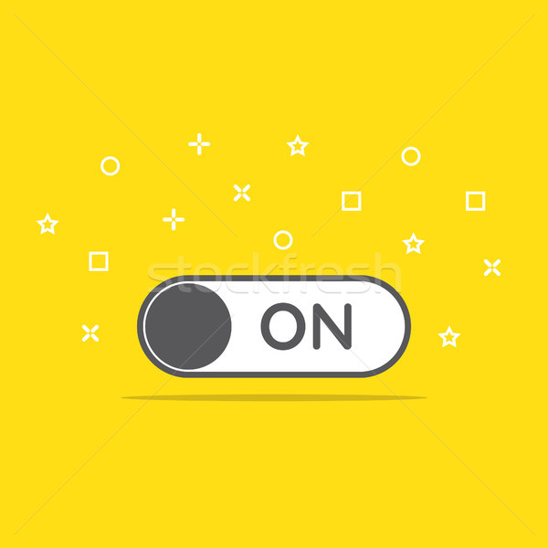 switch on toggle icon in flat style vector illustration Stock photo © taufik_al_amin