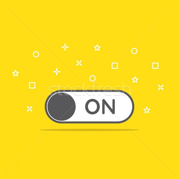 Switch icône style internet web vert Photo stock © taufik_al_amin