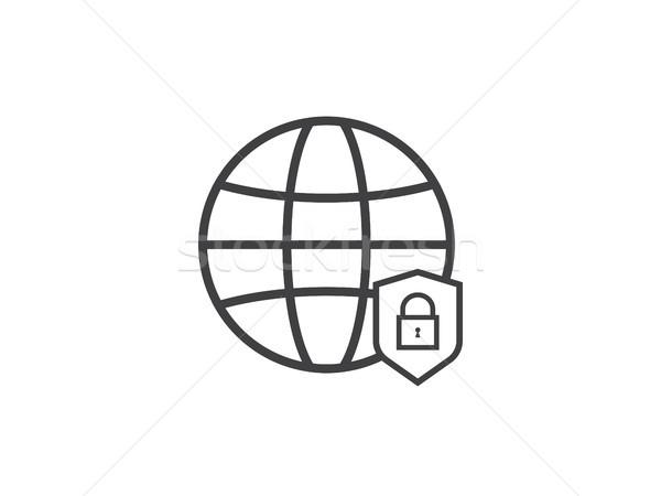 Foto d'archivio: Privacy · internet · scudo · sicurezza · line
