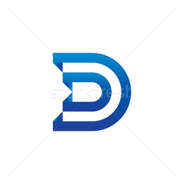 D betű logo sablon üzlet absztrakt terv Stock fotó © taufik_al_amin