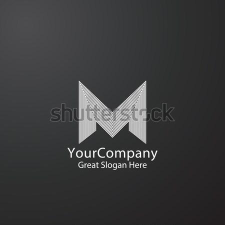 Letter M logo design for fashion brand, initial wedding invitation, business finance. Linear creativ Stock photo © taufik_al_amin