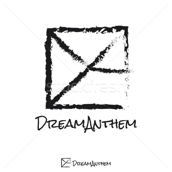 Mektup kare logo müzisyen şablon müzik Stok fotoğraf © taufik_al_amin