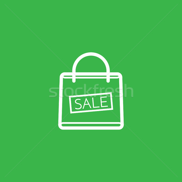 Shopping bag with the sale, discount symbol vector illustration Stock photo © taufik_al_amin