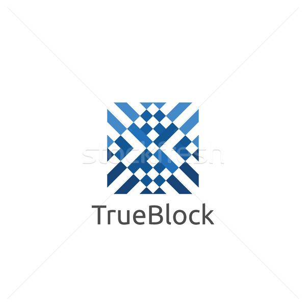 Szőnyeg padló csempe fal logo ikon Stock fotó © taufik_al_amin