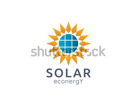 Solar panel energy logo icon. zero waste concept design Stock photo © taufik_al_amin