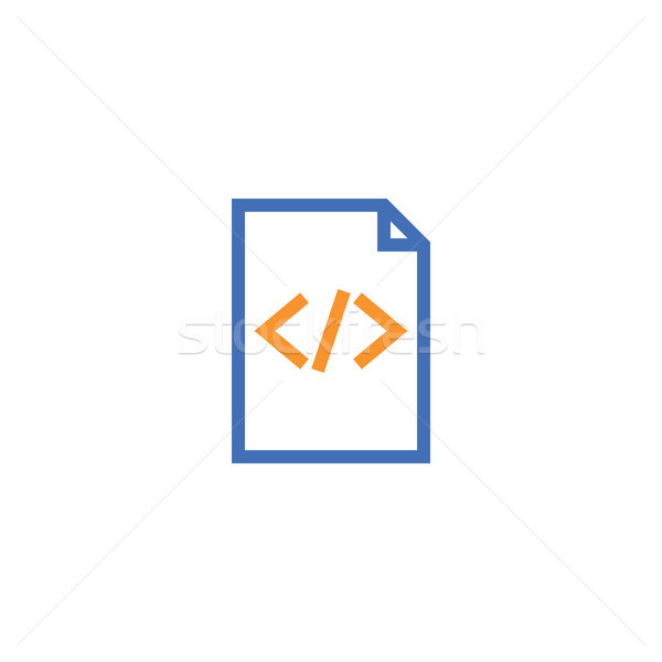 Html document papier schets icon geïsoleerd Stockfoto © taufik_al_amin