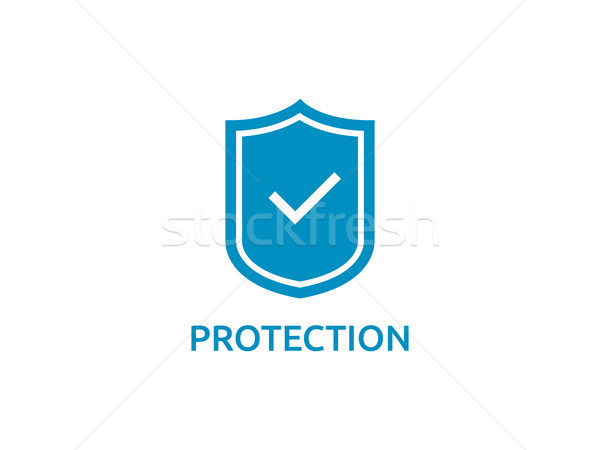 check shield icon symbol. Secure Protection Concept vector illus Stock photo © taufik_al_amin