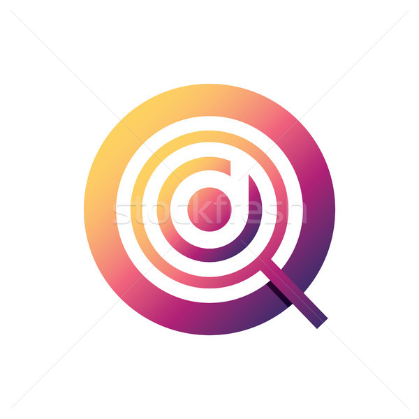 magnifying logo with initial letter d vector illustration Stock photo © taufik_al_amin