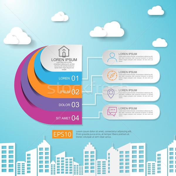 Abstract metà cerchio business infografica nube Foto d'archivio © taufik_al_amin