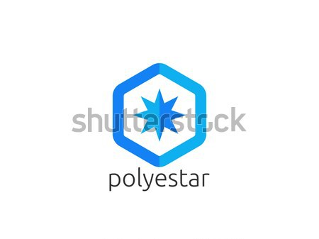 Abstract star sun polygon logo icon. creative apps modern corpor Stock photo © taufik_al_amin